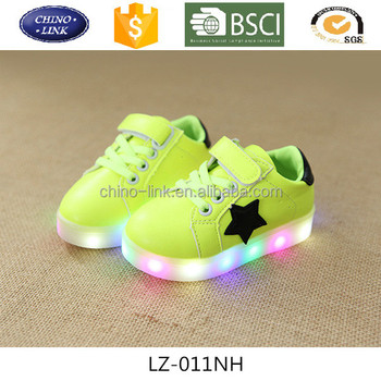 Kids mini led light up shoes hot sale casual shoes pu sport toddler shoes  star ff09875eb