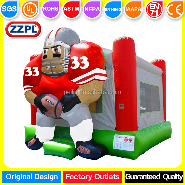 ZZPL Football Player Inflatable Bounce House, Inflatable moonwalk for toddlers