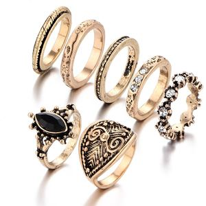 Artilady Vintage Carved joint gem 7 suit diamond ring price accessories jewelry wholesale