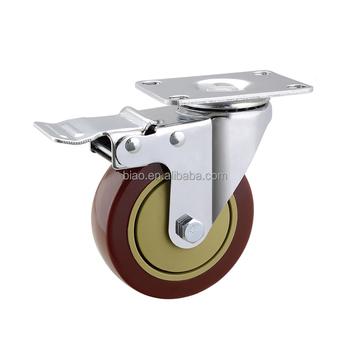 2.5 5 Inch Factory Price Brake Type Table Leg Caster
