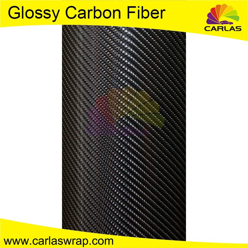 Carlas glossy carbon fiber car cover vinyl film carbon fiber sheet for car