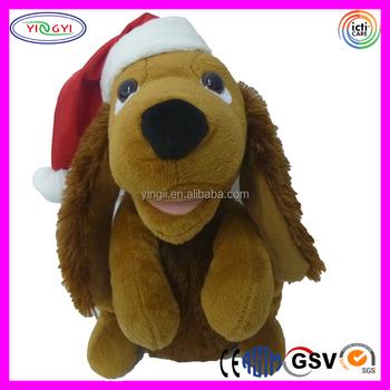 A156 Weiche Welpen Hund Stofftier Singen Plüsch Weihnachten ...