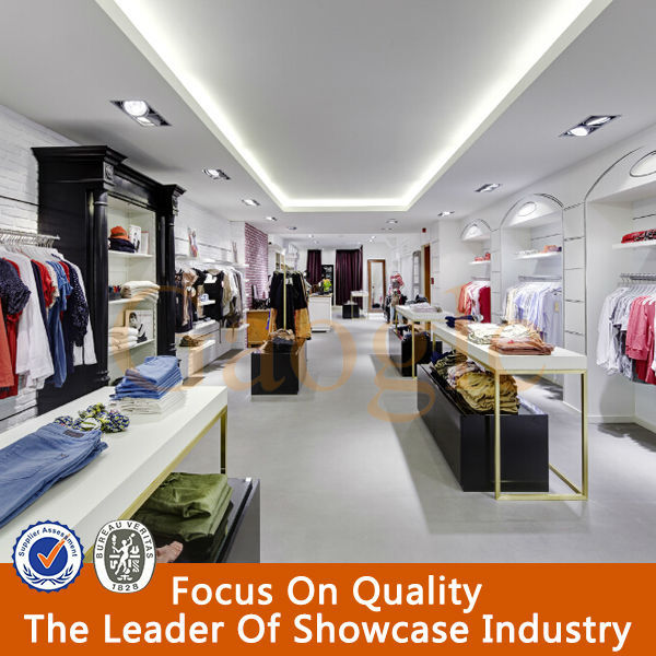 fashionable interior design garments shop decoration