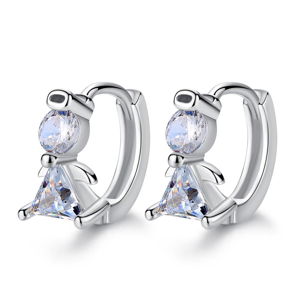 ab2f188eedb4 De moda de las señoras de plata 925 pendientes de comprar en línea Ángel  lindo ala