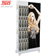 mdf wooden hair extensions double side handing displays stand rack for hair extensions