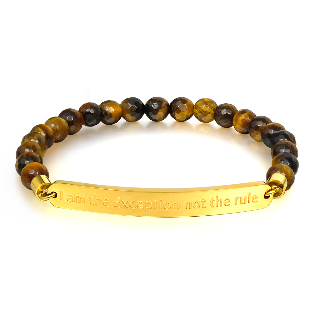 New 2018 Women Jewelry Accessories Inspirational Charm Black Gemstone Bead Stretch Bracelets