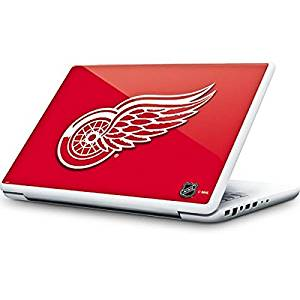 NHL Detroit Red Wings MacBook 13-inch Skin - Detroit Red Wings Solid Background Vinyl Decal Skin For Your MacBook 13-inch