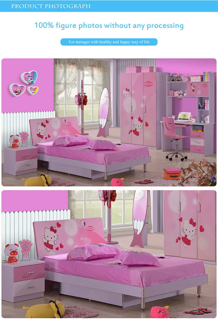 Hello Kitty Girls Bedroom Furniture, Exotic Furniture 8863# Part 57