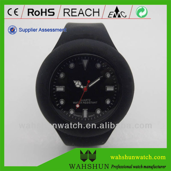 New seasons promotional black silicone toy watch jelly