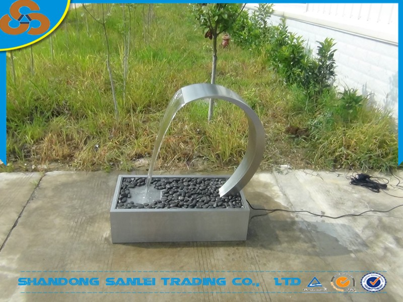stainless steel blade swimming pool waterfall cascade