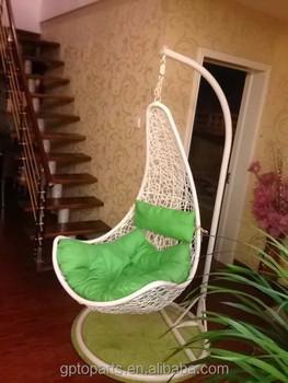 wholesale egg chaped swing hammock chair swing chair hanging pod chair hanging chair metal frame rattan