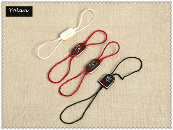 Plastic tag string for jewelry and watch