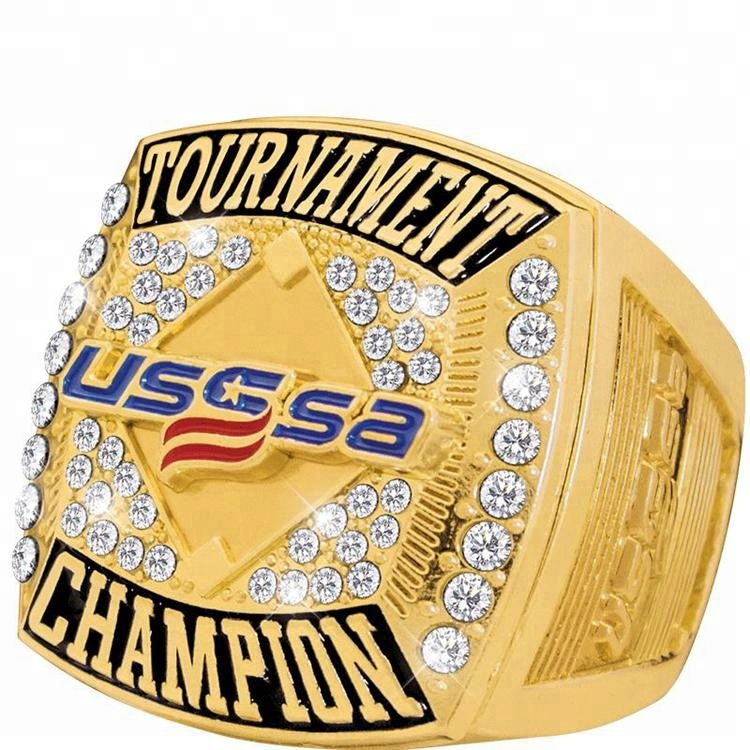 Custom USA Logo Mold Baseball Trophy Team Championship Rings