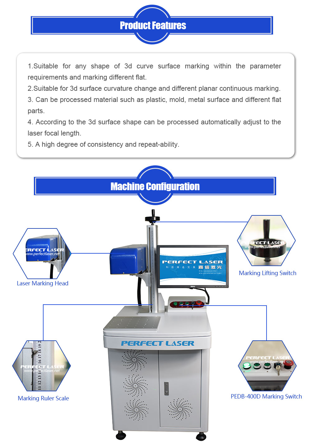PVC OOI Micro Memory Card IC Laser Marking Machine