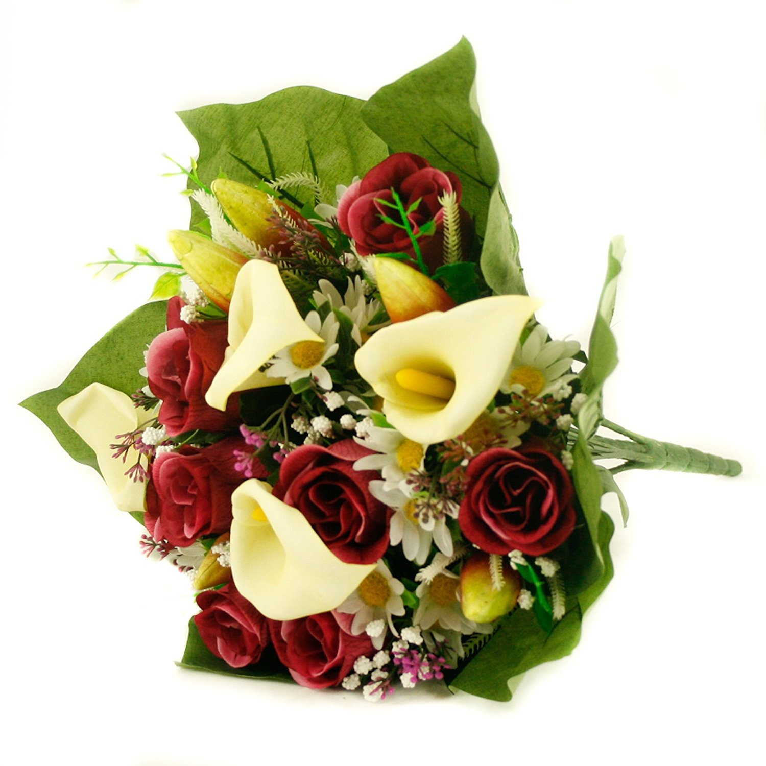 Cheap flower lillies find flower lillies deals on line at alibaba get quotations floristrywarehouse artificial silk mixed flower bouquet calla lillies roses 16 inches burgundy izmirmasajfo