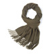 Wholesale 180*32Cm 24 Solid Color Scarves Winter Women Thick Plain Long Real Cashmere Wool Scarf With Tassel