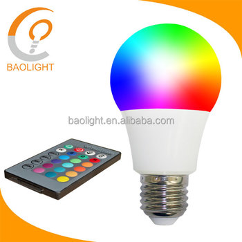 Color Changing Lamp Led Bulb 7 Watt E27 16 Colors With Rgb Remote