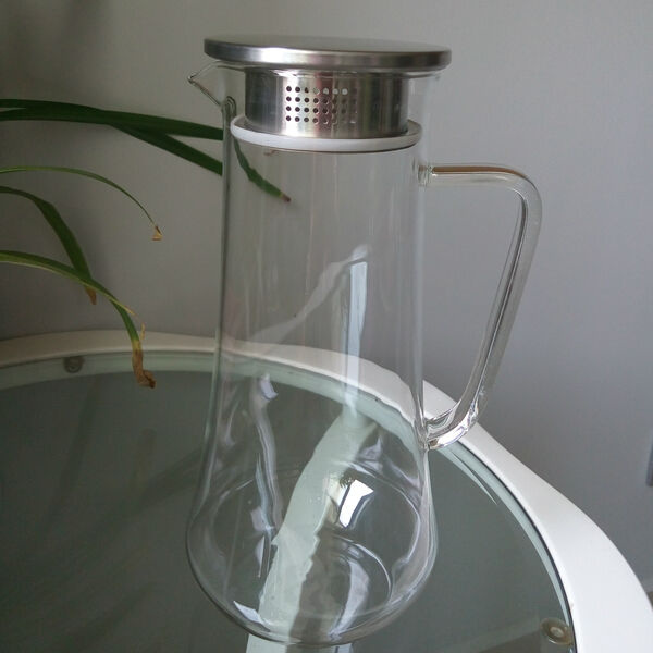 High quality new design glass water jug glass water filter pitcher glass water jug with lid - Glass filtered water pitcher ...