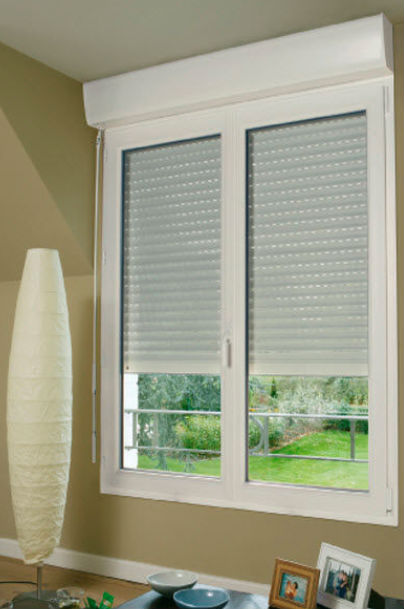 Window Blind casement window blinds : Pvc Casement Windows With Fixed Pael With Blinds Inside Double ...