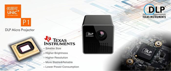 High quality unic dlp texas instruments oem led mini smart for Texas instruments mini projector