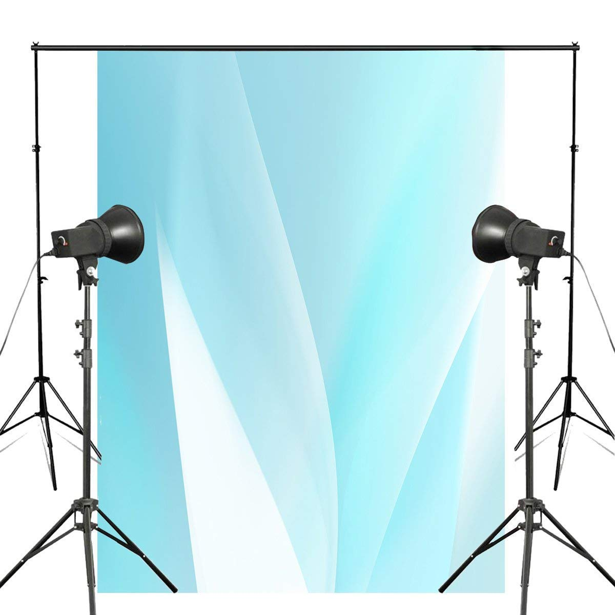 ERTIANANG 5x7ft Abstract Photography Backdrop Light Blue Background Art Photo Studio Backdrop Wall