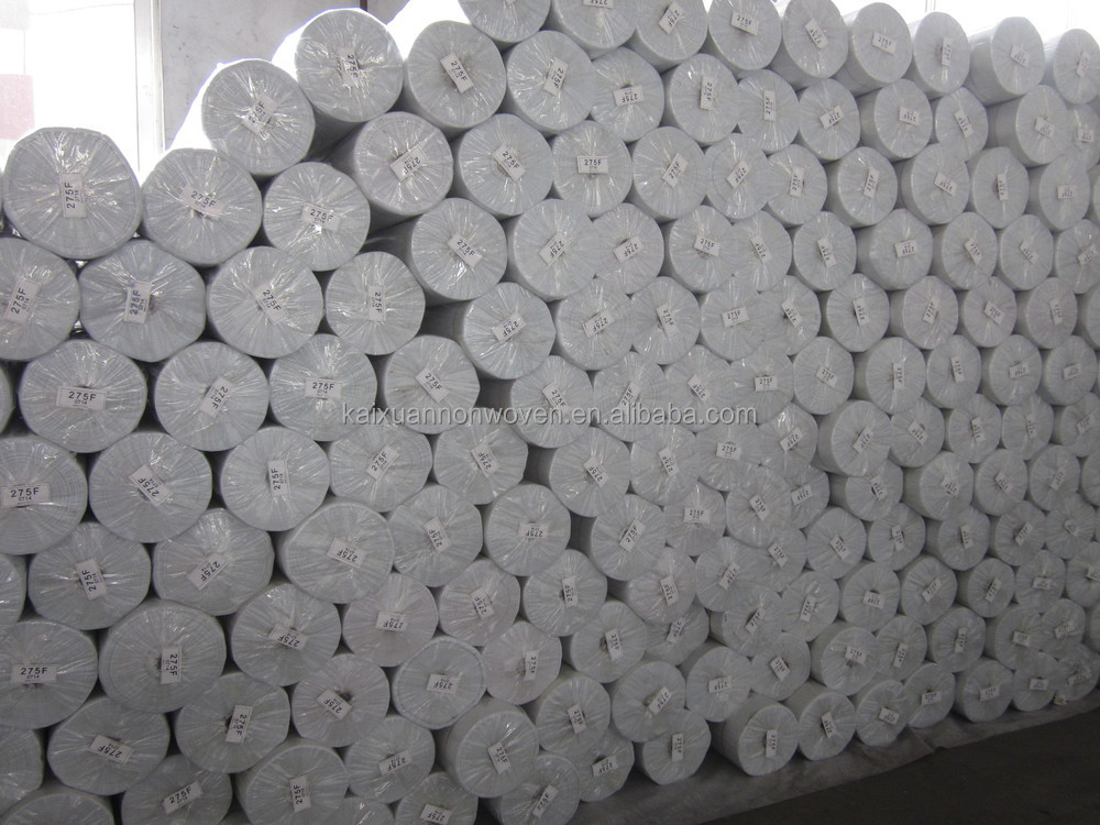 Hydrophobic Rpet Knitted Stitch Bond Nonwoven Fabric In Roll