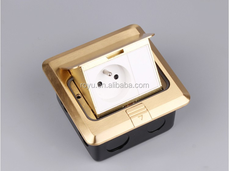 Pop Up Power Socket,French Type 2p+t Brass Material,Square Shape ...