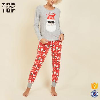 f334a8618e43 Online wholesale shop cute santa print matching family christmas pajamas