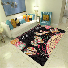 Eco-friendly soft customized size 3d carpet for living room