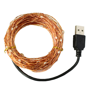 3M/5M/10M USB Plug Fairy LED Copper/Silver Wire Lights String 2018
