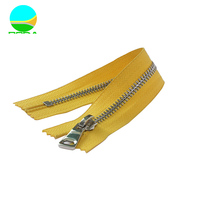 Custom metal zipper zipper bag shiny nickel-free y teeth stainless steel zipper