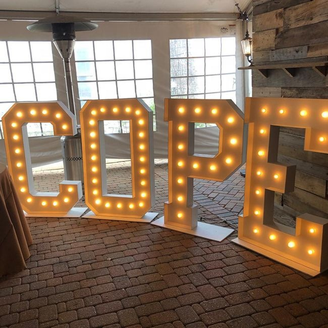 Light Up Letters Party Decor Outdoor