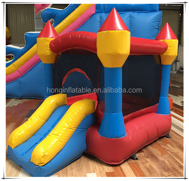 Guangzhou funny toys PVC inflatable baby bouncer with mosquito net, jumping castle