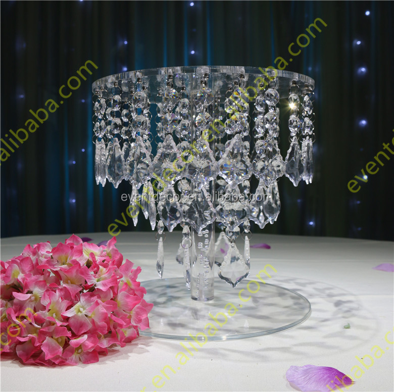 Hanging Crystal Acrylic Cake Stand For Wedding Cakecrystal Chandelier