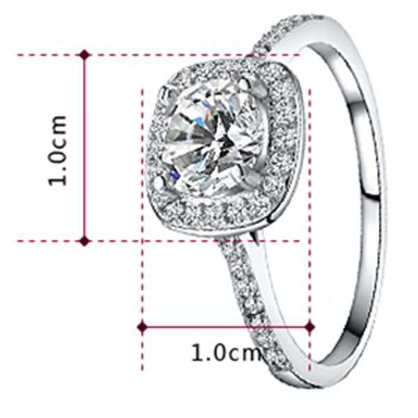 Factory Supply 18KGP Women Zircon Ring Jewelry
