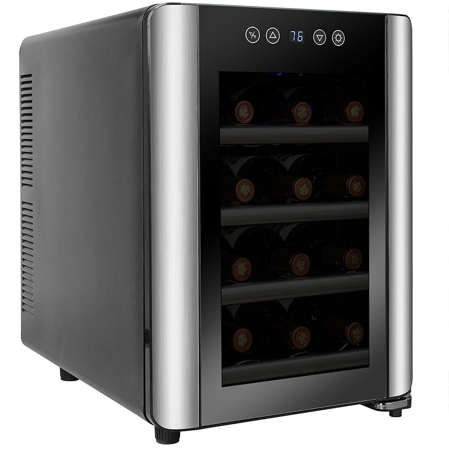 12 Bottle Thermoelectric Wine Cooler Single Zone FreeStanding Refrigerator