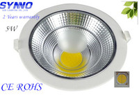 2 Years85-265V Warranty Recessed Lighting LED Dow Light 5w LED Downlight COB LED Downlight Dimmable Lumen 1620ml