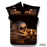 3D bedding New latest Retro Skull design 3d HD printed bedding sets 3d cotton