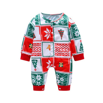 Clothing manufacturer NO moq dropshipping baby pajamas romper christmas clothes with free sample