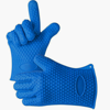Fashion Orange Color Silicone Kitchen Gloves With Five Fingers