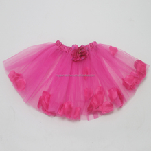 Mysunshines wholesale 100%polyester party dancing wear hot pink flower petal tutu skirt