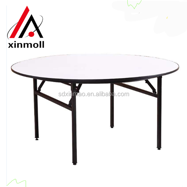 2017 Hotsales Modern PVC Round Folding Table For Banquet
