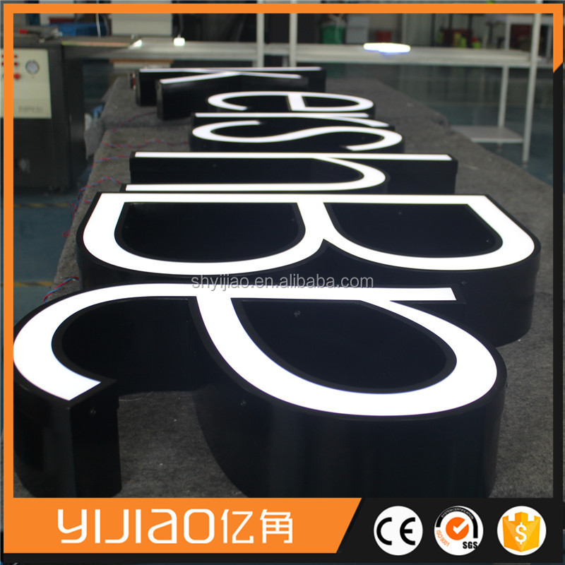 led channel letter signage for safety road signs advertising signboard