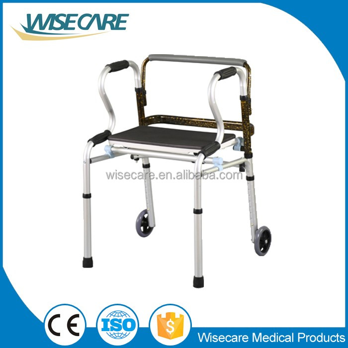 China Manufacturer Aluminum Folding Walker Walking Aid For Old ...