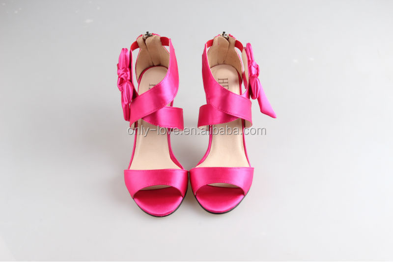 BS854 hot pink high heel bridal wedding shoes party sandals View