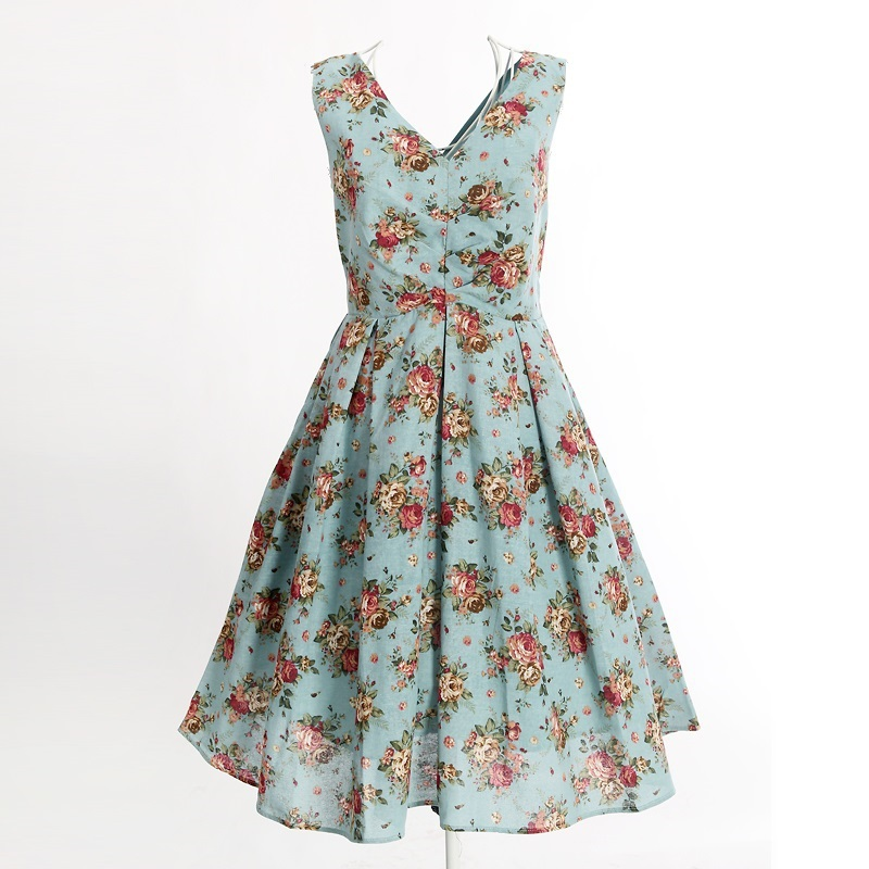 d93a53d7486 Buy floral print dress knee length vintage style clothing kleider party  vestidos cotton novelty women hippie boho western UK design in Cheap Price  on ...