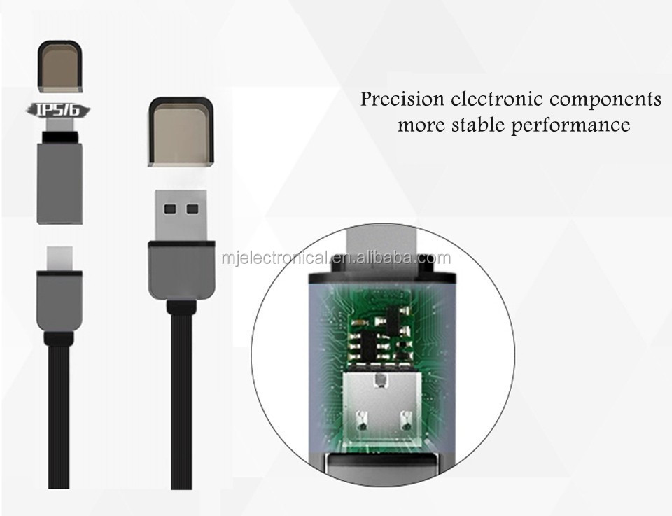 Private Product Mobile Phone Accessory Intelligent LED USB To Micro USB Wire for Smart Devices