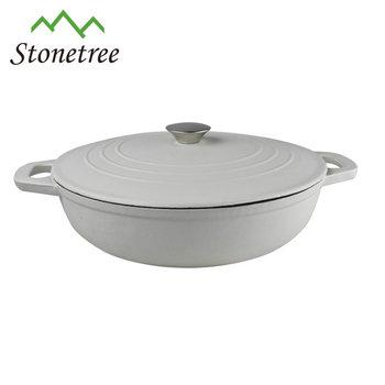 Cast Iron Cookware Round Brasier Pot