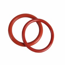 Sample free customized red color silicone o ring/rubber o ring
