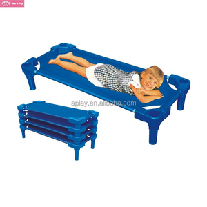 Kids Beds Manufacturer Top Cloth Kids Kindergarten Stackable Plastic Beds
